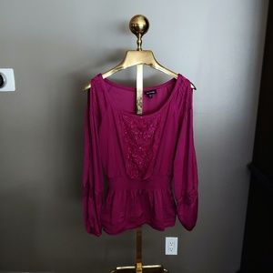 bebe Purple Blouse